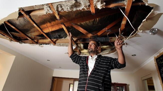 Result of an Ceiling Insulation Fire